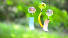 Japanese traditional wind chimes Stock Footage