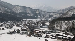 Shirakawa-go Village, Gifu Prefecture, Japan Stock Footage