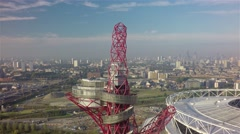 ArcelorMittal Orbit: City View: Stock Footage