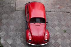 Volkswagen Kaefer Top View Stock Photos