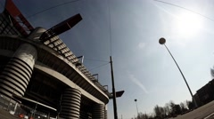 Time lapse of Meazza stadium in Milan Stock Footage