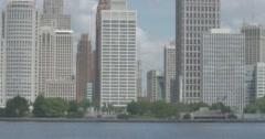 Detroit City Skyline Stock Footage