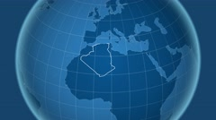 Stock Video Footage of Algeria and Globe. Solids