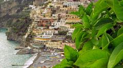 Amalfi Coast Positano Italy 4K Stock Video Footage - stock footage