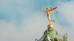 Place de la Bastille, Le Génie de la Liberté Statue  - Timelapse Stock Footage