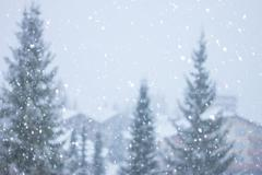 Blurred heavy  snow falling Kuvituskuvat