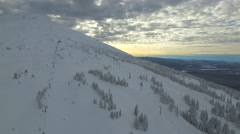 Aerial Oregon Mt Bachelor Stock Footage
