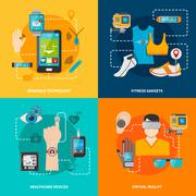 Smart technology set Stock Illustration