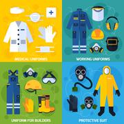 Protective Uniform Equipment - stock illustration