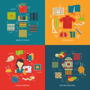 Stock Illustration of Textile concept set
