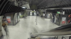 London Bridge Underground Station Time Lapse - stock footage