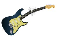 Clean Guitar Neck Break Stock Illustration