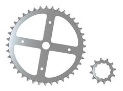 Bicycle Cogs Stock Illustration