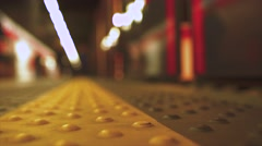 Train departs from the metro station. 4K - stock footage