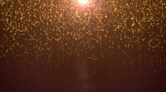 Golden magic particles Stock Footage