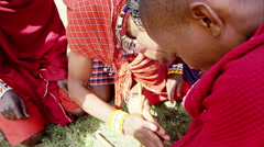 Massai in 4k Stock Footage