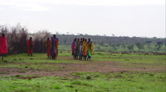Massai - stock footage