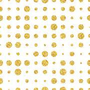 Retro colorful dot seamless pattern. Vector illustration - stock illustration