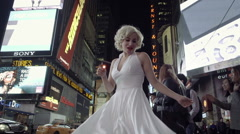 Marilyn Monroe Times Square in New York City, Seven Year Itch dress - stock footage