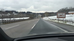 The Autobahn is the federal controlled-access highway system in Germany Stock Footage