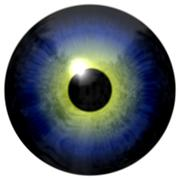 Abstract blue and yellow eye isolated on white Stock Illustration