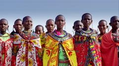 Massai women singing - stock footage