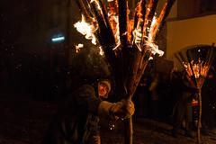 Chienbaese Festival Liestal Stock Photos