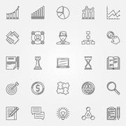 Business strategy linear icons Piirros