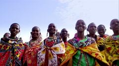 Massai women in 4k - stock footage