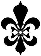 Fleur de lis symbol - black silhouette Stock Illustration