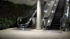 Outdoor Working Escalator Stock Footage