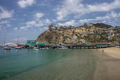 Avalon Pier Santa Catalina Island Stock Photos