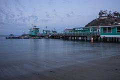 Avalon Bay Pier, Santa Catalina Island Stock Photos