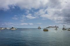 Carnival Cruise Ship at Avalon, Santa Catalina Island Stock Photos