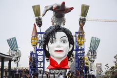 Michael Jackson in Parade float During The Carnival of Viareggio Stock Photos