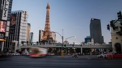 Las Vegas Strip Sunset Stock Photos