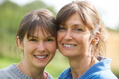 Portrait Of Adult Daughter With Mother - stock photo