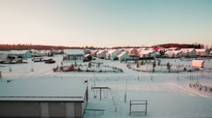 Stock Video Footage of Beautiful cozy color houses in Finland