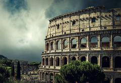One of the most popular travel place in world - Roman Coliseum. Stock Photos