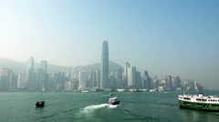 4K Timelapse of Hong Kong Victoria Harbour - stock footage