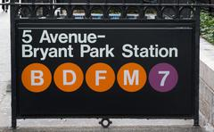 New york subway sign at Bryant Park Station Kuvituskuvat