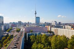 View over Berlin Alexanderplatz Stock Photos