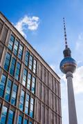 Fernsehturm, Berlin Alexanderplatz Stock Photos