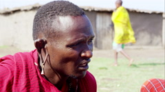 Massai man Stock Footage
