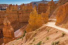 Navajo loop trail in Bryce Canyon - stock photo