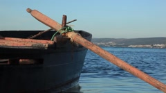 Paddle of the boat - stock footage