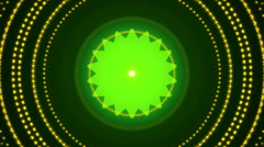 Green abstract background, kaleidoscope, loop Stock Footage