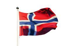 Flag of Norway - stock photo