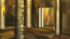 Ancient Egyptian temple - stock illustration