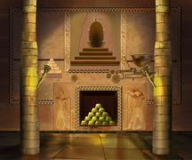 Ancient Egyptian temple - stock illustration